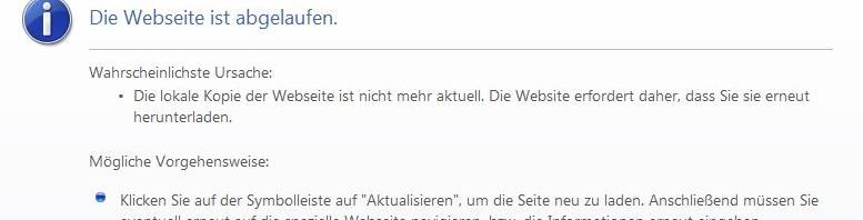 Screenshot: Die Webseite ist abgelaufen.